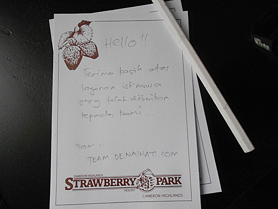 terima kasih strawberry park resort Makanan Enak di Strawberry Park Resort, Cameron Highlands