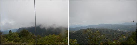 Panorama dari menara di puncak Gunung Brinchang