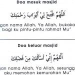 doa keluar masuk masjid