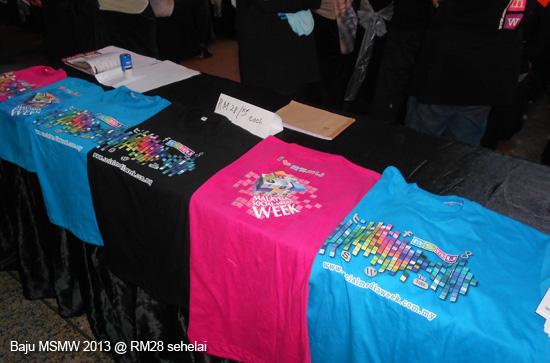 Baju T-Shirt MSMW 2013
