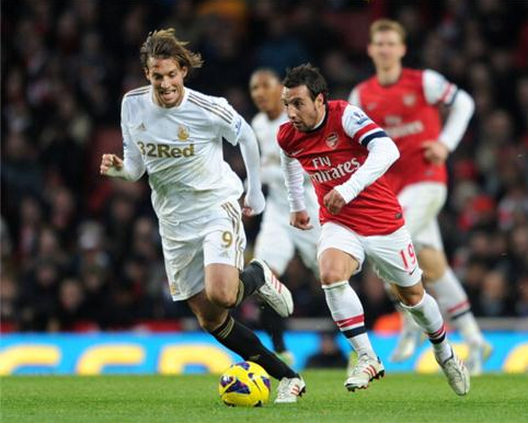 Swansea vs Arsenal perlawanan keduu BPL 2012/13