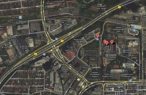 Peta Hotel Singgahsana, PJ