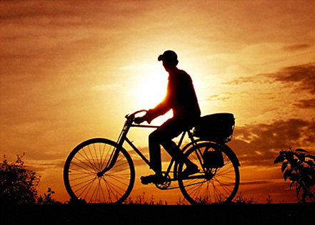 kayuh basikal menuntut ilmu