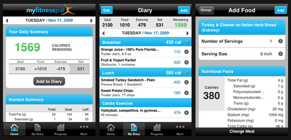 myfitnesspal iphone 5