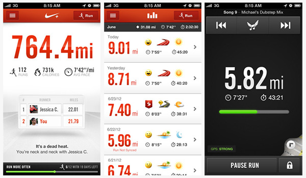 nike+ running iphone apps