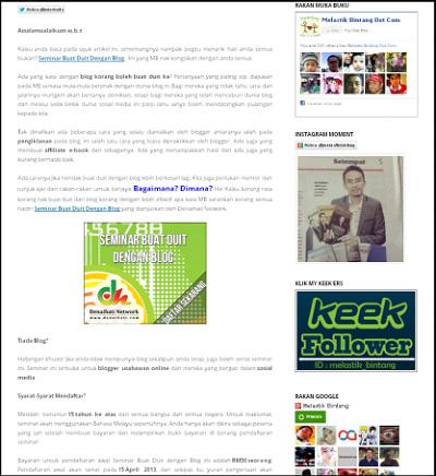 widget sidebar postpage