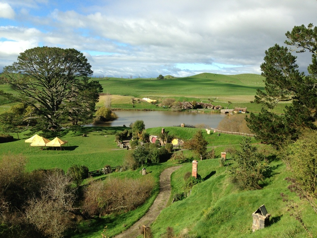 shire perkampungan hobbit yang sangat cantik