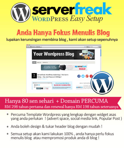 serverfreak wordpress easy setup