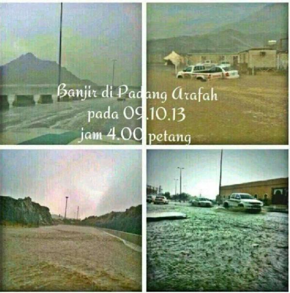 Gambar ribut dan banjir di Arafah