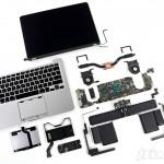 Komponen sebuah macbook pro retina