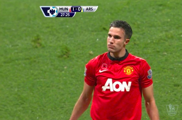 van persie celebration vs arsenal