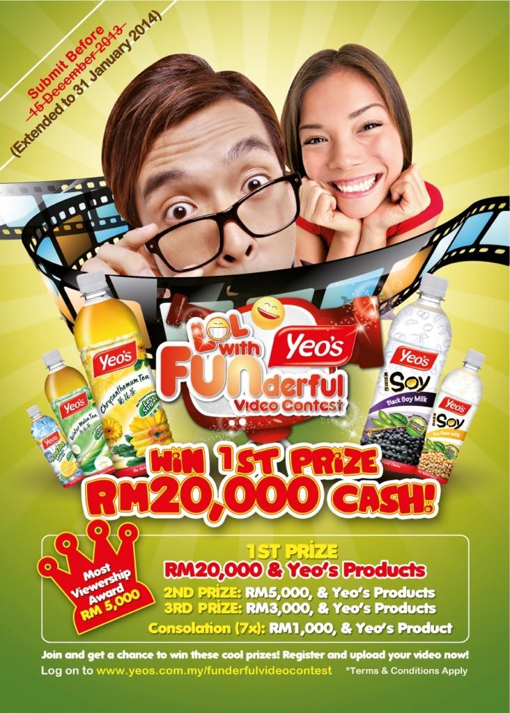 Yeo's Funderful Video Contest dengan hadiah RM40,000
