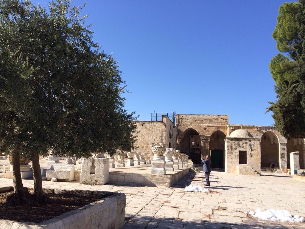 Masjid Buraq dari hadapan masjid al aqsa
