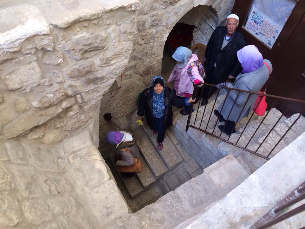 Tangga menuju Masjid Buraq