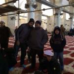 Jemaah selepas solat jumaat di masjid al aqsa