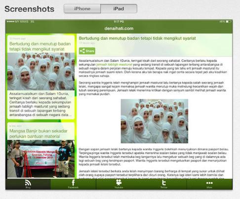 aplikasi iOS Denaihati untuk iPad