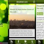 Paparan Blog aplikasi Android Denaihati