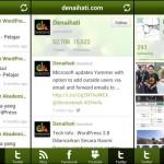 Paparan aplikasi Android Denaihati - YouTube, Twitter dan Instagram