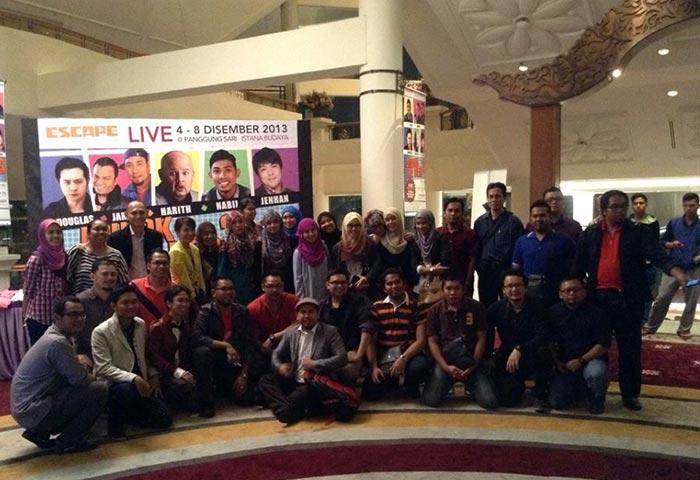 Blogger di event Lawak Ke Der 3 yang diadakan di Istana Budaya