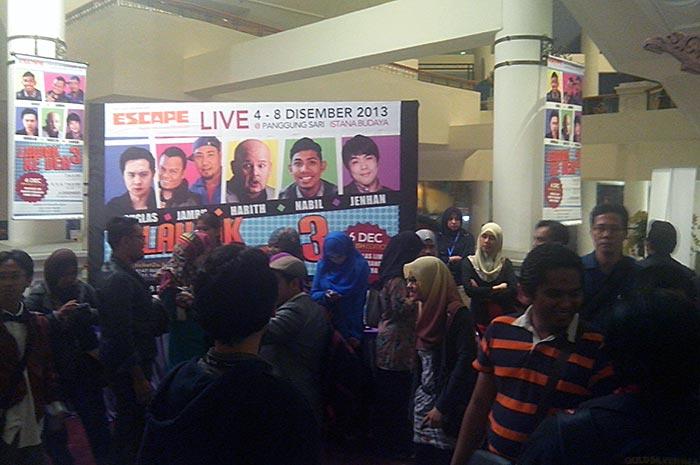 Event blogger di Istana Budaya menonton persembahan Lawak Ke Der 3