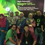 Denaihati bersama rakan blogger di Blogrrr Awards 2013