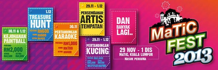 MaTiC Fest 2013 program anjuran oleh Pusat Pelancongan Malaysia (MaTiC)