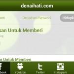Paparan aplikasi Android Facebook Denaihati