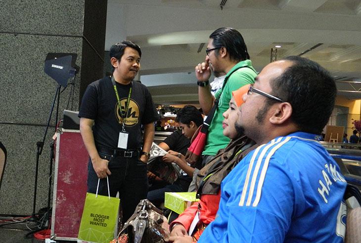 Rakan blogger Denaihati di event Blogrrr