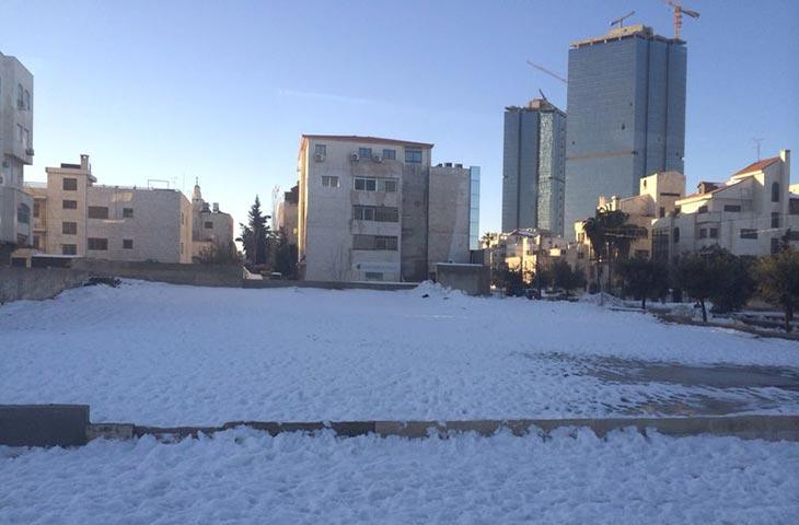 Salji tebal di Jordan #KembaraPalestine