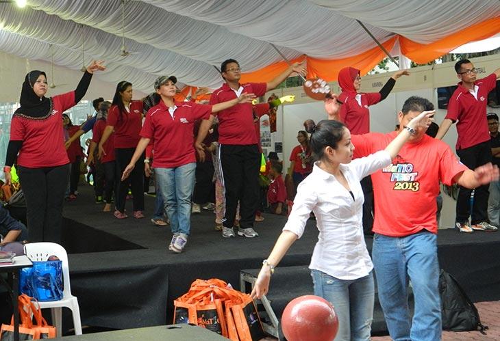 Senaman Tarian Cuti-Cuti 1Malaysia di MaTiC Fest 2013