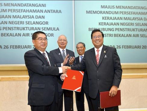 Memorandum Persefahaman (MoU) berhubung penstrukturan semula industri bekalan air Selangor