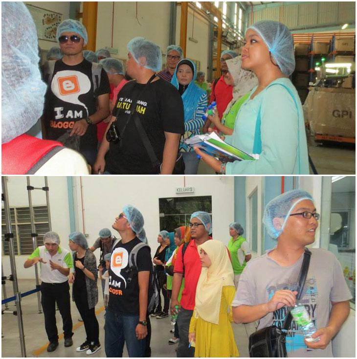 Blogger trip melawat kilang Spritzer