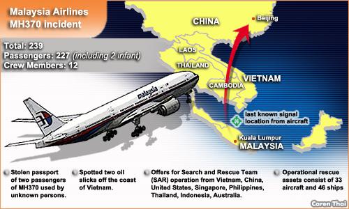 lokasi kehilangan pesawat MH370
