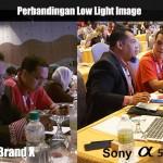Perbandingan kualiti gambar diambil dalam tempat pencahayaan rendah yang sama.
