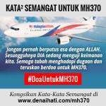 Kata-Kata Semangat untuk Penumpang dan Keluarga Mangsa Pesawat MH370