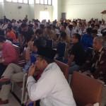 Ahli rombongan dan pelajar SMK Negeri 5 Makassar