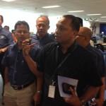 Penerangan oleh wakil Harian Fajar kepada rombongan kembara DPIM