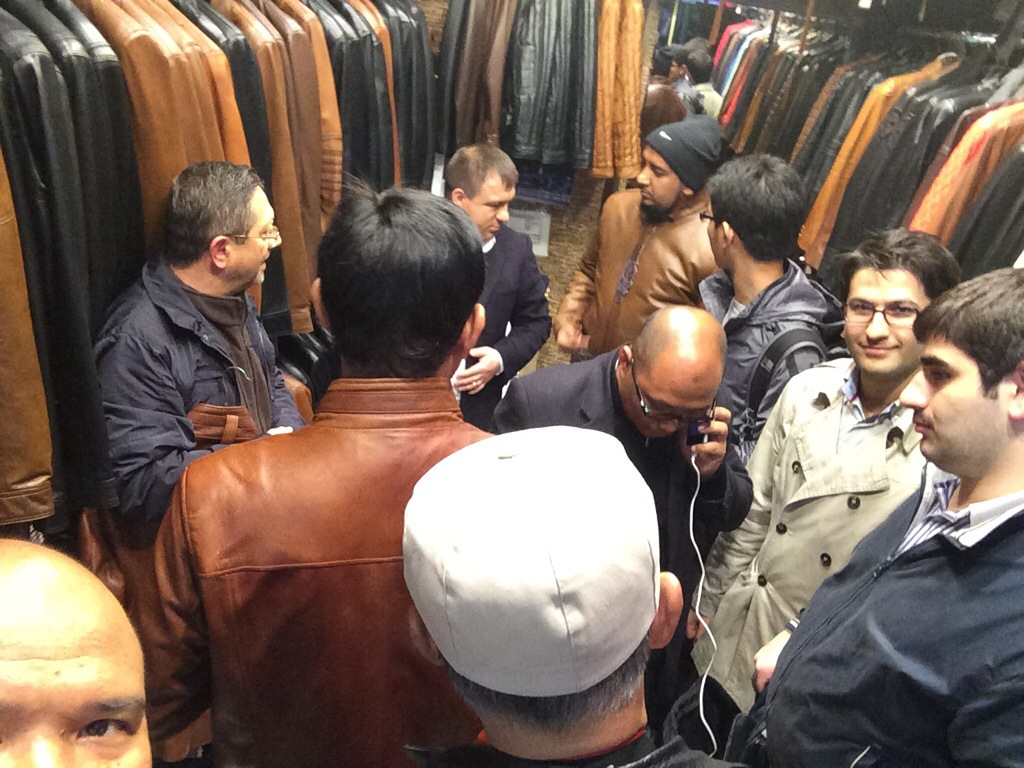 Shopping jaket kulit di Grand Bazar Bursa