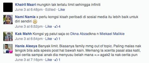batas bersosial di facebook