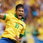 gambar Neymar penjaring goal Brazil