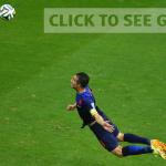 gambar gol Van Persie lawan Sepanyol