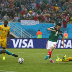 gambar jaringan gol kemenangan Mexico