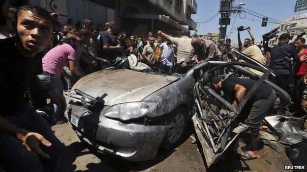 gambar Gaza hancur di serang Israel