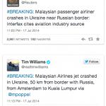 tweet MH17 terhempas