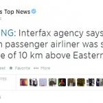 MH17 ditembah jatuh