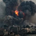 gambar Gaza di bom Israel