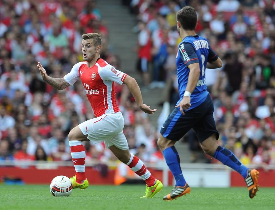 gambar Jack Wilshere dengan jersi baru Arsenal