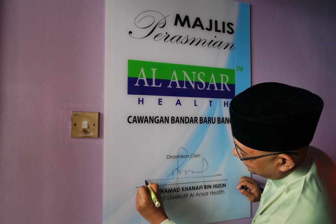 Perasmian Al Ansar Health Cawangan Bangi