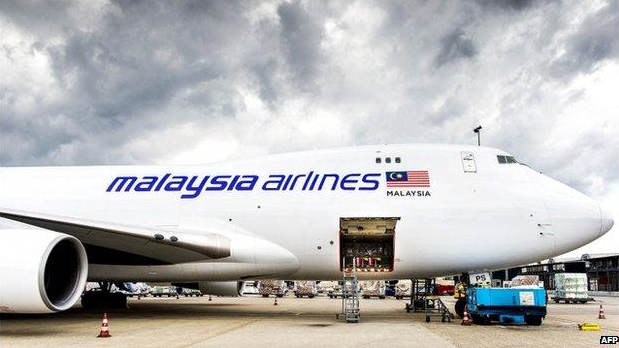 pesawat MH6129 yang membawa jenazah MH17