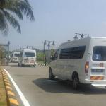 kereta jenazah MH17 keluar dari kompleks bunga raya
